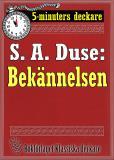 Cover for 5-minuters deckare. S. A. Duse: Bekännelsen. Brottmålshistoria. Återutgivning av text från 1917