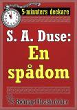 Cover for 5-minuters deckare. S. A. Duse: En spådom. Berättelse. Återutgivning av text från 1926