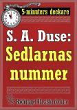 Cover for 5-minuters deckare. S. A. Duse: Sedlarnas nummer. En detektivhistoria. Återutgivning av text från 1926