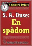 Cover for 5-minuters deckare. S. A. Duse: En spådom. Berättelse. Återutgivning av text från 1925