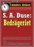 Cover for 5-minuters deckare. S. A. Duse: Bedrägeriet. Berättelse. Återutgivning av text från 1916