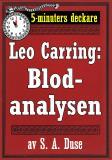 Cover for 5-minuters deckare. Leo Carring: Blodanalysen. Återutgivning av text från 1917