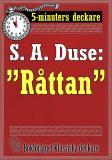 """Cover for 5-minuters deckare. S. A. Duse: """"Råttan"""". Återutgivning av text från 1929"""