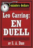 Cover for 5-minuters deckare. Leo Carring: En duell. Detektivberättelse. Återutgivning av text från 1928