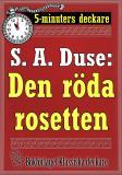Cover for 5-minuters deckare. S. A. Duse: Den röda rosetten. Återutgivning av text från 1919