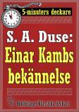 Cover for 5-minuters deckare. S. A. Duse: Einar Kambs bekännelse. Berättelse. Återutgivning av text från 1919