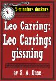 Cover for 5-minuters deckare. Leo Carring: Leo Carrings gissning. Återutgivning av text från 1922