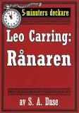 Cover for 5-minuters deckare. Leo Carring: Rånaren. Återutgivning av text från 1921