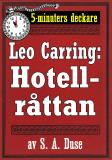 Cover for 5-minuters deckare. Leo Carring: Hotellråttan. Återutgivning av text från 1922