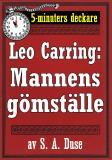 Cover for 5-minuters deckare. Leo Carring: Mannens gömställe. Detektivhistoria. Återutgivning av text från 1921