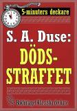 Cover for 5-minuters deckare. S. A. Duse: Dödsstraffet. Återutgivning av text från 1917
