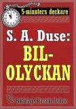 Cover for 5-minuters deckare. S. A. Duse: Bilolyckan. Berättelse. Återutgivning av text från 1922
