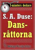 Cover for 5-minuters deckare. S. A. Duse: Dansråttorna. Detektivhistoria. Återutgivning av text från 1929