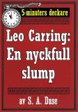 Cover for 5-minuters deckare. Leo Carring: En nyckfull slump. Detektivhistoria. Återutgivning av text från 1924