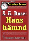 Cover for 5-minuters deckare. S. A. Duse: Hans hämnd. Återutgivning av text från 1927