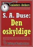 Cover for 5-minuters deckare. S. A. Duse: Den oskyldige. Brottmålshistoria. Återutgivning av text från 1924