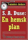 Cover for 5-minuters deckare. S. A. Duse: En hemsk plan. Återutgivning av text från 1919