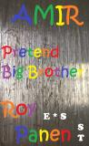 Cover for AMIR Pretend Big Brother (short text, English / Swedish)