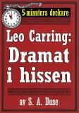 Cover for 5-minuters deckare. Leo Carring: Dramat i hissen. Återutgivning av text från 1922