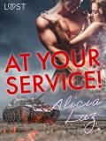 Cover for At Your Service! - Erotic short story