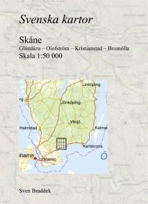 Cover for Svenska kartor. Glimåkra – Olofström – Kristianstad – Bromölla (Skåne)