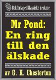 Cover for Mr Pond: En ring till den älskade. Återutgivning av text från 1937