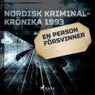 Cover for En person försvinner