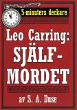 Cover for 5-minuters deckare. Leo Carring: Själfmordet. Återutgivning av text från 1921