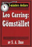 Cover for 5-minuters deckare. Leo Carring: Gömstället. Återutgivning av text från 1932